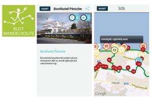 Gratis kustwandelroute app